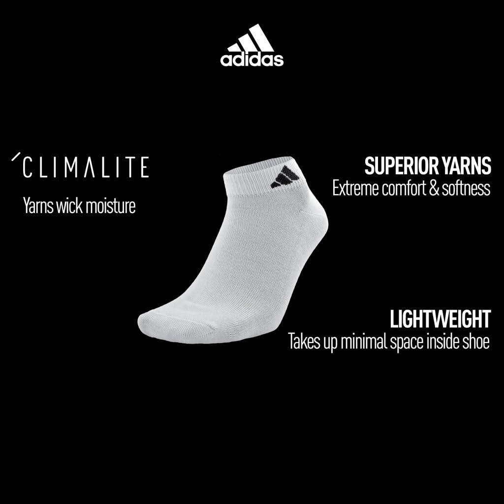 adidas boys Kids-boy's/Girl's Superlite Low Cut Socks (6-pair)