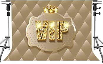 VIP Backdrop for Photography MEETSIOY Royal Crown Black Hollywood VIP Photo Backdrops for Baby Shower Graduation Party Photo Studio Backgrounds Props 10x7ft PMT1002