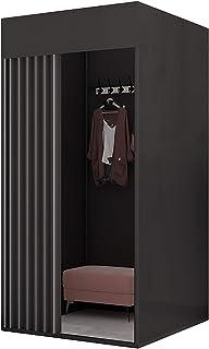 Cabine d'essayage Changement de vestiaire, kit de rideau de salle de villégiature pour le centre commercial dressing porta...