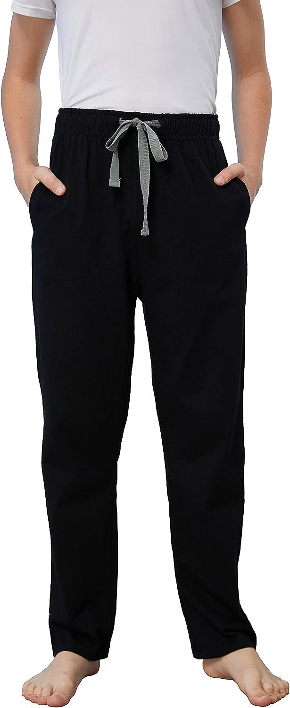 HiddenValor Big Boys Knit Soft Cotton Pajama Lounge Pants with Pockets