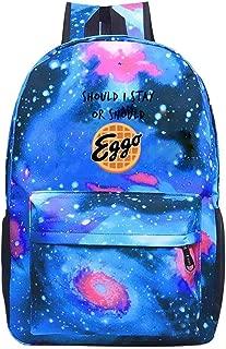 Hugo Payne Kids Should I Stay or Should I Go Eggo waffle Backpacks Galaxy Computer Bag Casual School Bag