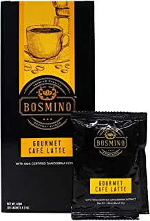 Bosmino Gourmet Cafe Latte Water Soluble Ganoderma Lucidum Colombian Coffee (1 Box: 20 Sachets)