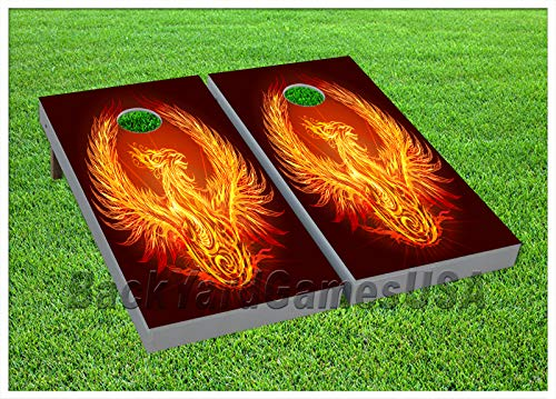 Vinyl Wraps Cornhole Boards Decal Eagle of Flames Bag Toss Game Stickers 476