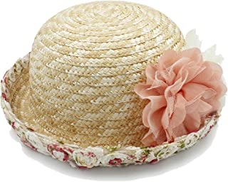 LiJuan Shen Beach Sun Hat Raffia Hat Spring Summer Ladies Flower Dome Hat Hat Sun Hat