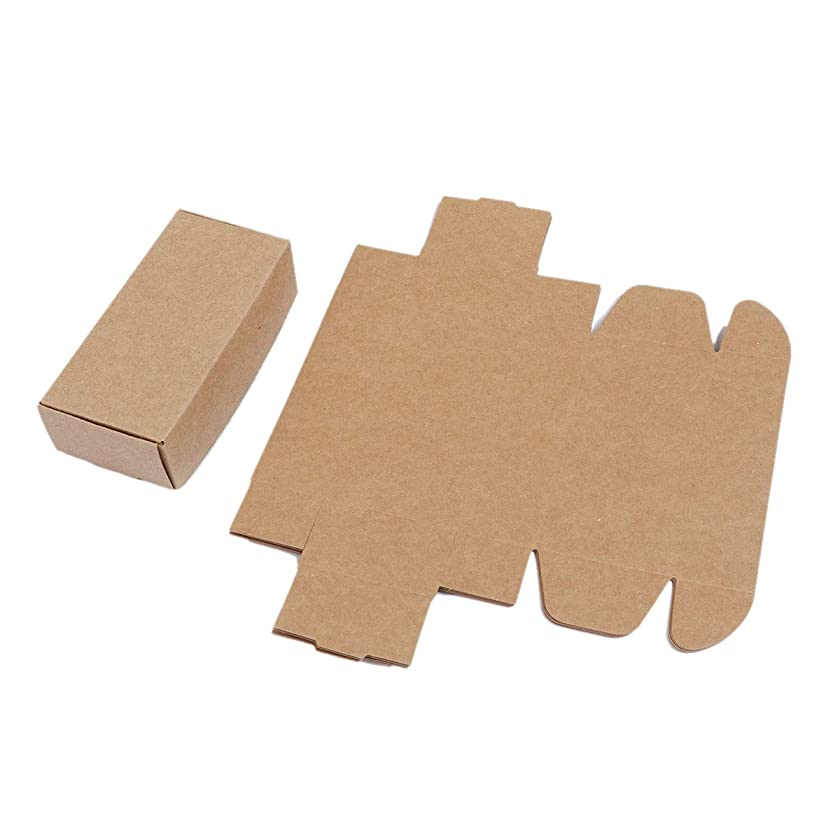 30 Pack Small Kraft Brown Gift Box Rectangle (4 7/8 x 2 3/8 x 1 3/8 Inch)