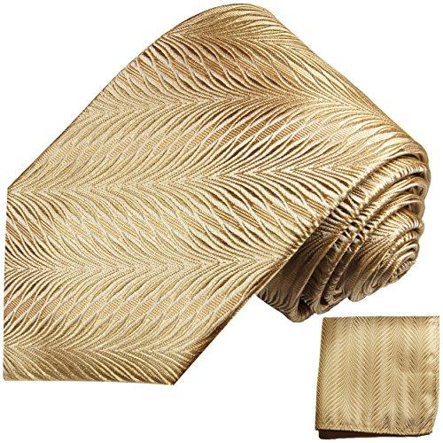 Cravate homme or marron ensemble de cravate 2 Pièces (longueur 165cm)