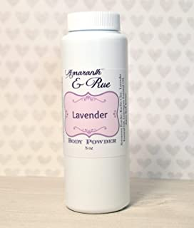 Natural Lavender Body Powder 8 oz Amaranth & Rue