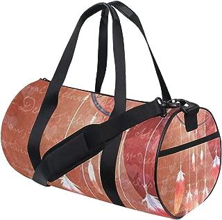 Womens Gym Bag Dream Catcher Heart Mens Duffel Bags Duffle Luggage Travel Bag