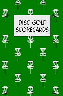 Disc Golf Scorecards: Disc golf scorebook with 100 disc golf score sheets