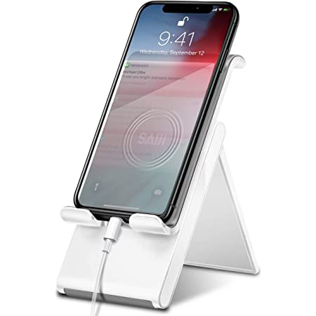 Cell Phone Stand 2020 Upgraded All Phones Phone Holder Adjustable Fully Foldable Compatible with iPhone//iPad//Tablet 3X Stable iPhone Stand EXTENSIBLE 4-11 Phone Stand for Desk YIKA