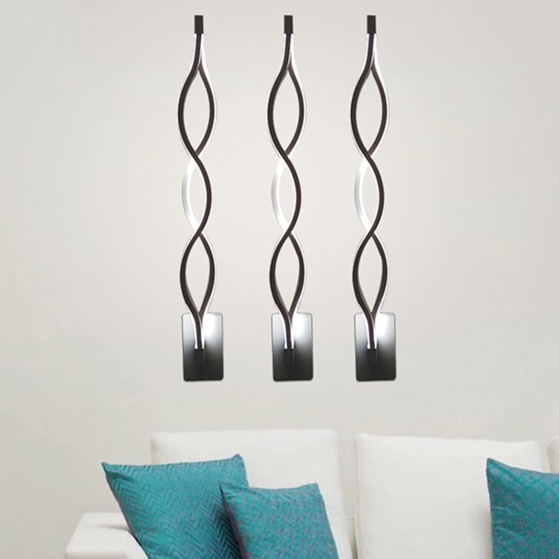 Xuqin Aluminium Welle Wandlampe Modern Einfach L Kreativ Schlafzimmer Gang Wohnzimmer Fernseher Hintergrund LED Schaltflchentyp Wandlampe