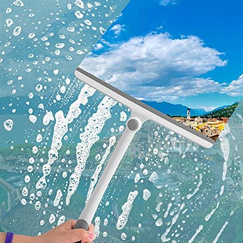 HAOXIU Tergicristalli professionale – Detergente telescopico per vetri 2 in 1, con labbro per doccia, lavavetri e lavavetri