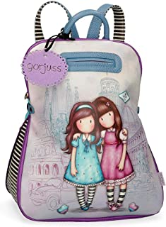 Mochila Casual Gorjuss Friends Walk Together, Morado, 31x38x15 cm