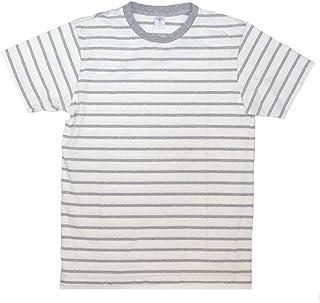 [ベルバシーン] 161550U アンイーブンボーダー 半袖Tシャツ アメリカ製
