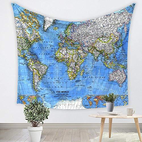 bjyxszd Dorm Decor,Tapestry Wall HangingToalla de Playa de la tapicería de la tapicería de la decoración del paño Que cuelga 3D,Mantel de la Manta de la impresión del Mapa-5_El 150 * 130cm