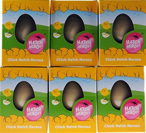 Juego de 6 huevos para nacer con diseño de gallina, regalo de Pascua