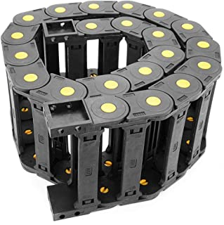 ZXHAO R55 1M/39.37 inch Length Black Plastic Cable Wire Carrier Drag Chain Nested 25x103mm/0.98x4.06 inch