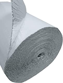 US Energy Products 400 sqft (4ft x 100ft) White Double Bubble (XTEMP) Reflective Aluminum Insulation Roll Solid Metal Building Vapor Barrier - White Concrete Commercial Residential House Buildings