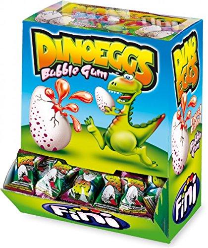 Fini Boom Dino Egg BBG 200 Stck. Packung (Kaugummi mit flüssiger Erdbeer-Füllung in Dino-Ei-Form)