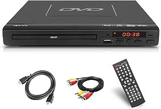 comprar comparacion Reproductor de DVD de 225 mm para Entretenimiento en el hogar y el Aprendizaje, soporta Salida HDMI/AV, Entrada USB, con M...