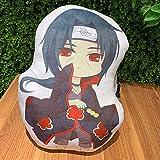 Salemor Naruto Uzumaki Sasuke Itachi Pillow Q Version Double-Sided Plush Pillow Sofa Cushion Cute Stuffed Doll Toy Anime Fans Gift(Uchiha Sasuke)