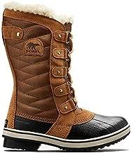 Sorel Womens Tofino II Shearling Waterproof Boot, Camel Brown/Black, 7
