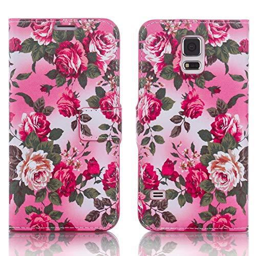 numerva Handyhülle kompatibel mit Huawei Ascend Y530 Hülle [Rosen Muster] Case Ascend Y530 Handytasche - 2