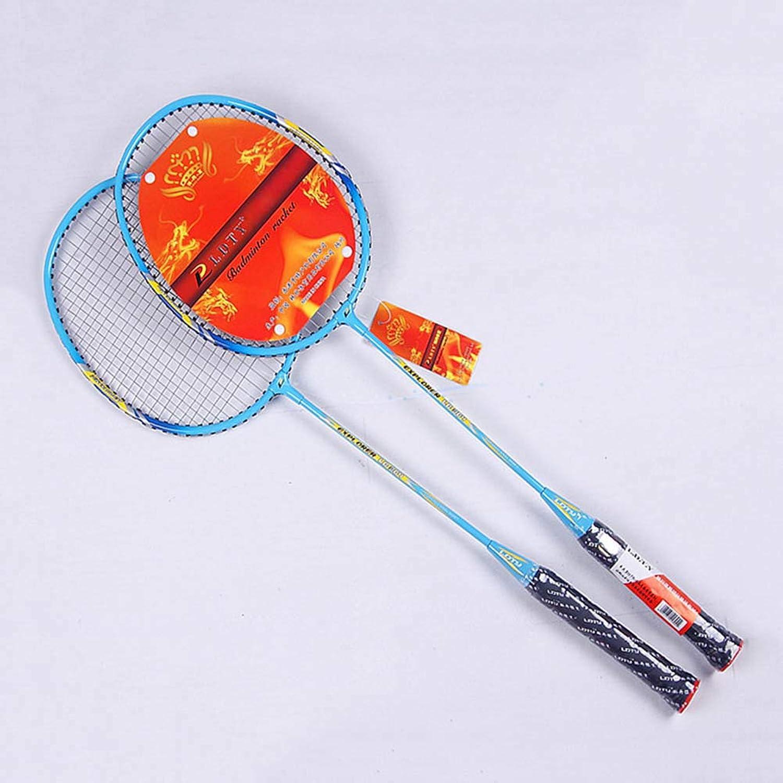 Badminton Racket Set Aluminium Alloy Lightweight Includes 2 Badminton Racket Rackets Storage Bag bluee