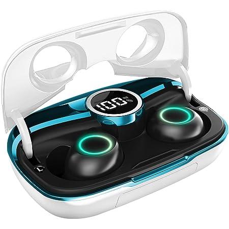 MakThing ワイヤレスイヤホン Bluetooth 5.0 第2世代【ステレオサウンド/8mmドライバー/安定性向上したTWS Plus対応/クリア通話/30時間連続再生/IPX7防水/片耳両耳通用/LEDディスプレイ/モバイルバッテリー機能/タッチ式/ PSE認証済】S2 ホワイト