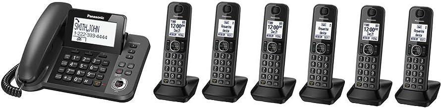 Panasonic KX-TGF353M plus three KX-TGFA30M handsets DECT 6.0 Plus Corded / Cordless..