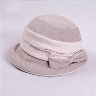 Hat Woman New Wool Cap Leisure Hairy Wild` TuanTuan (Color : Gray, Size : M)