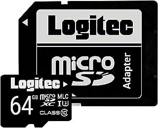 マイクロSDカード 64GB Nintendo Switch 動作確認済 UHS-I Class10 SDXC ドライブレコーダー向け MLC採用高耐久 microSDカード ロジテック メール便 ドラレコ LMC-MSD64G