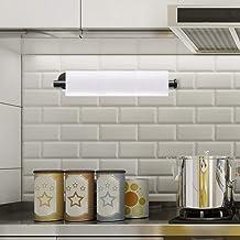 Laiashley Roestvrij staal keukenpapier handdoekhouder, zelfklevend & ponsvrij vastgemaakt weefsel papier rolhouder, hanger...