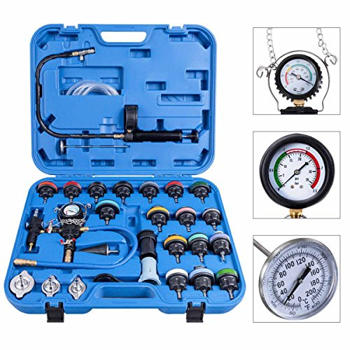 Toolsempire 28 pcs Set Universal Radiator Pressure Tester and Vacuum Type Cooling System Kit...