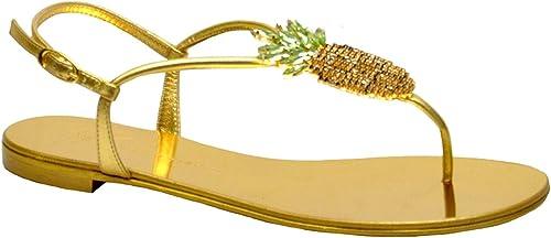 Giuseppe Zanotti Design Damen E800120001 Gold Leder Sandalen