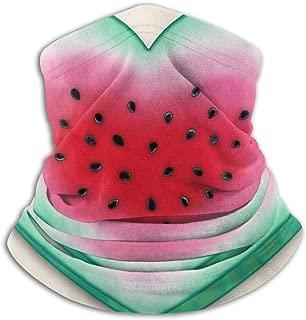 Summer Love Watermelon Heart Neck Gaiter, Headwear, Face Sun Mask, Magic Scarf, Bandana, Balaclava, Headband for Fishing, Motorcycling, Running, Skateboarding, Moisture Wicking UV Protection