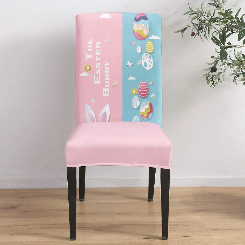 Fees free!! Inexpensive Dining Room Stretch Chair Cover The Bunny Slipcover Easter