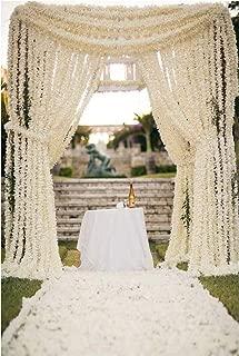 White Artificial Garland Jasmine Marigold Flower Garlands Festival Event Decoration Indian Wedding Party Decor Flowers 5 Feet Long 5 pcs