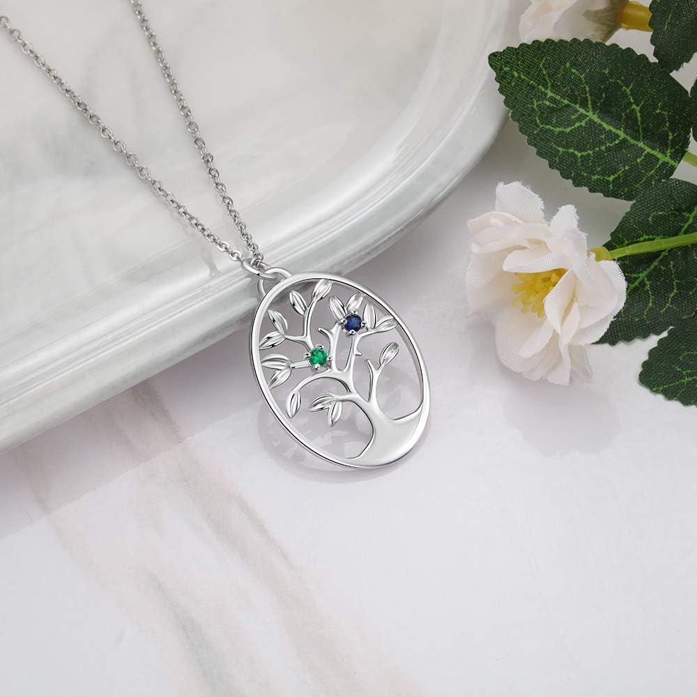 sumicorp.com Personalisierte Baum des Lebens Halskette mit ...