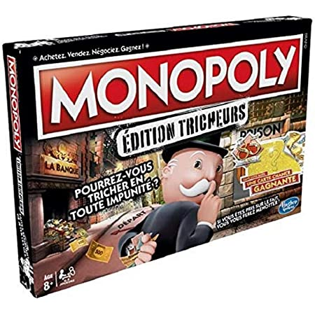 Monopoly classique jeu de société en version française 2 à 6 joueurs 8 ans et
