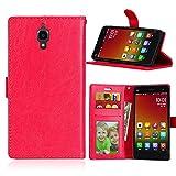 Qiaogle Téléphone Coque - PU Cuir Rabat Wallet Housse Case pour Xiaomi Mi4 (5.0 Pouce) - DK04 /...