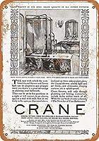 コレクターの壁アート、インチ、1925年クレーンクリスタルシャワー警告サイン私有財産の金属屋外危険サイン錫金属サインアートヴィンテージプラークキッチンホームバー壁の装飾