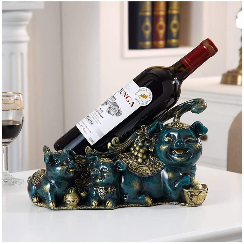 YLCJ Creative Wine Rack All items in the store Milwaukee Mall Golden European Pig Home Dec Bottle