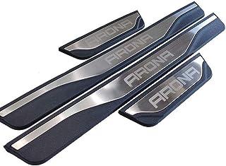 BTSDLXX 4Pcs Coche Acero Inoxidable Externo Barra Umbral Puerta Pegatinas Tiras Proteccion Accesorios para Citroen C Elysee 2014-2018 Bienvenido Patada Pedal Door Sill Desgaste