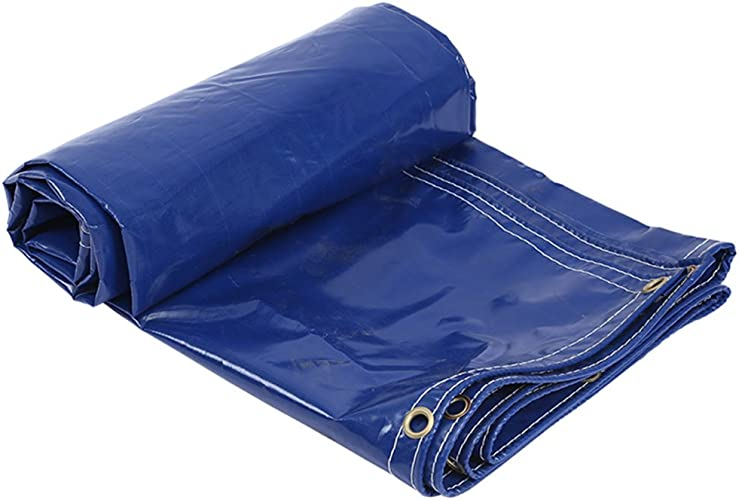 Tarpaulin HUO Bache Imperméable pour Les Camions Entreposant, Bleu Anti-UV Polyvalent Anti-UV De Toile De PVC (Couleur   Bleu, Taille   6  7m)
