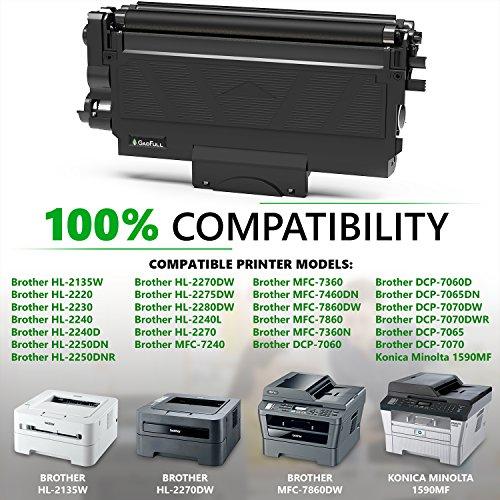 GadFull Tóner compatible con Brother HL-2135 W  2230   2240   2250DN   MFC-7240   7460DN   7360N   DCP-7060   7065DN   7070DW   Konika Minolta 1590MF   Corresponde al original TN-2220 / TN-2210