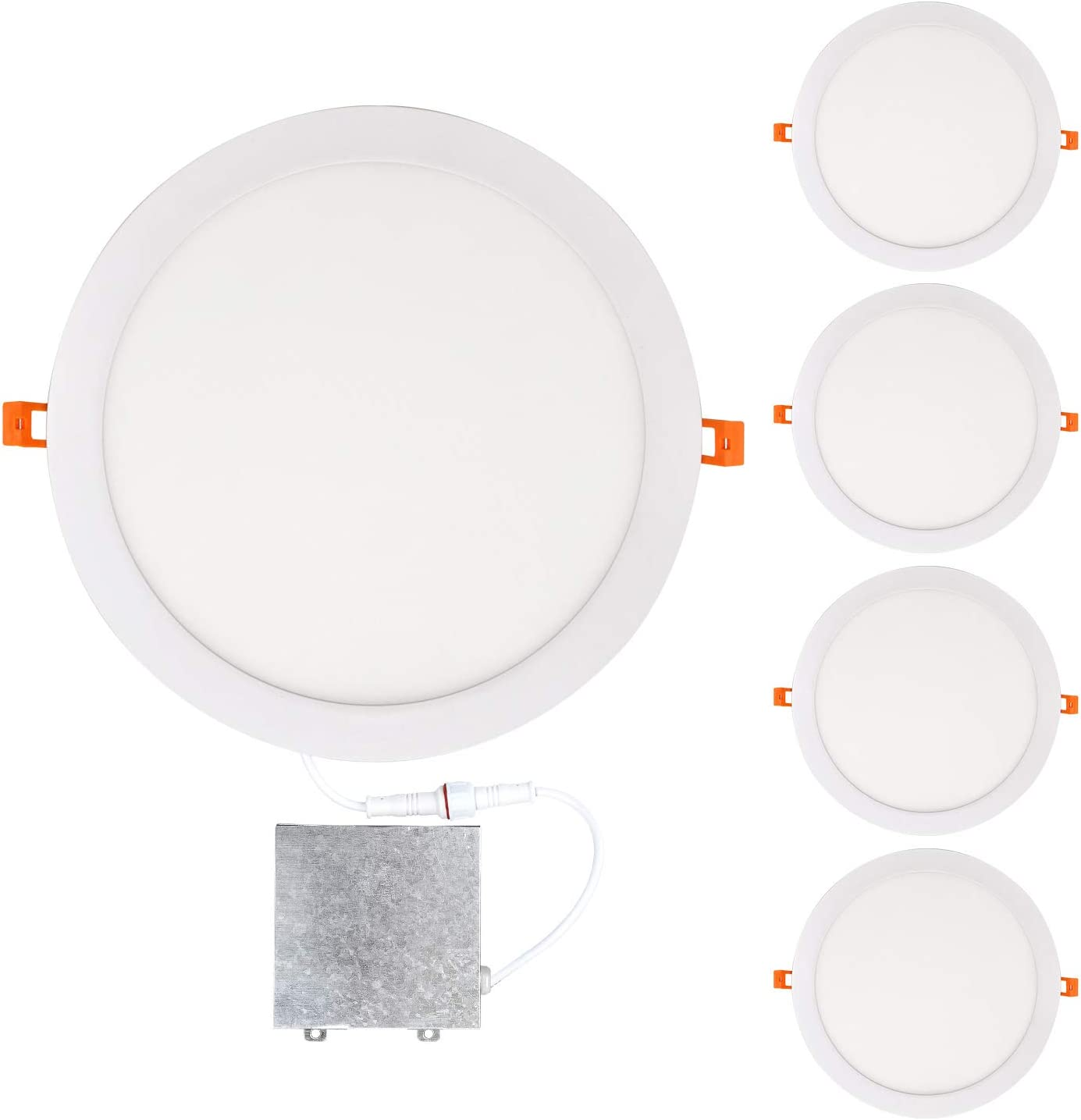 OSTWIN Sales 4 Pack Popular brand in the world 12 inch IC Rated LED Low R Recessed Slim Profile