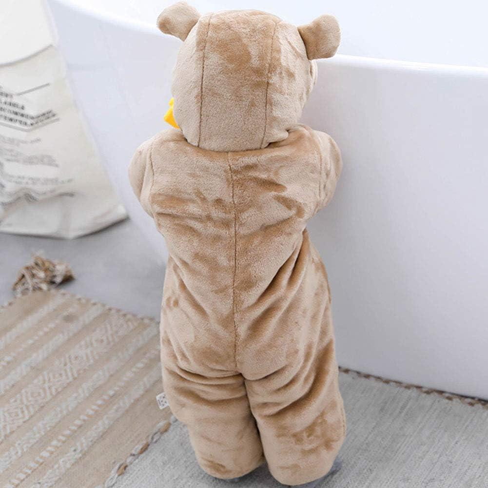 Baby Boys Bear Hooded w//3D Ears One-Piece Fleece Jumpsuit Red /& Black Bears 9 M