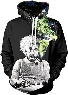 Takra Men Horror Clown Hoodie 3D Long Sleeve Pullover Sweatshirts