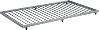 WE Furniture Twin Roll-Out Trundle Bed Frame - Silver